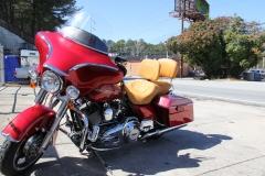 Cresha's shots Harley seat & 65 Austin Healey 081